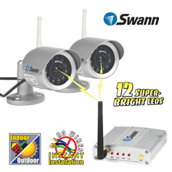 2 Pack Wireless Indoor/Outdoor Cameras  Model# SW233-WO2-17113