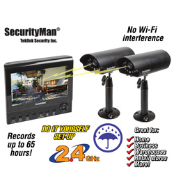 4 Channel Wireless Security System with 2 Cameras  Model# DIGI LCDDVR2