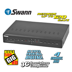 Swann 500GB 4-Channel DVR  Model# SWDVRA-42250H
