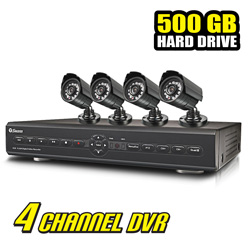 Swann 4 Channel DVR Security System with 4 Cameras  Model# SWDVK-425504C