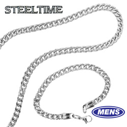 Mens Franco Necklace/Bracelet Set  Model# 704-027-BN