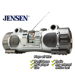 Jensen Portable Digital Music System&nbsp;&nbsp;Model#&nbsp;JISS-700I