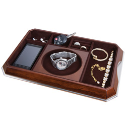 Walnut Wood Butler Valet Tray  Model# 2501007
