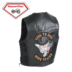 Genuine Buffalo Leather Vest  Model# BKVLTR