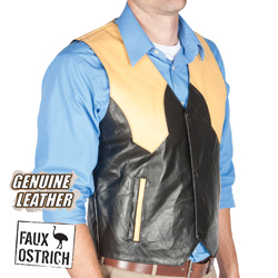 Western Leather Vest&nbsp;&nbsp;Model#&nbsp;GFVWOS
