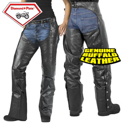 Motorcycle Chaps - Size: Medium 95959B