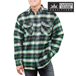 Heavyweight Flannel- Green&nbsp;&nbsp;Model#&nbsp;43743-304HL