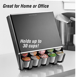 Free Fall K-Cup Organizer&nbsp;&nbsp;Model#&nbsp;DPS01-BLK