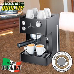 Seaco Aroma Espresso Machine&nbsp;&nbsp;Model#&nbsp;AROMA BLACK