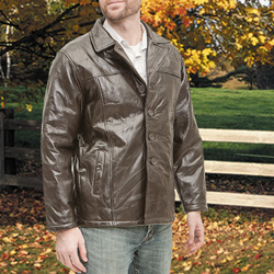 Mens Hipster Jacket - Brown  Model# PY-029-2