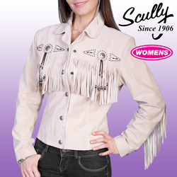 Leather Fringe Jacket  Model# L152