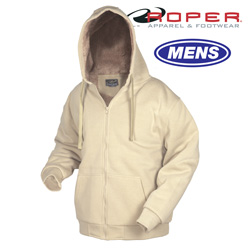 Khaki Sherpa Lined Sweatshirt  Model# 03-097-0199-1556BR