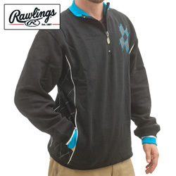Rawlings 1/4 Zip Sweatshirt  Model# M2096-BLACK W/PIPING