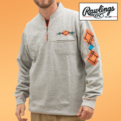 Rawlings 1/4 Zip Sweatshirt  Model# M2096-GREY