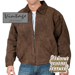 Brown Suede Bomber Jacket  Model# 23730-BROWN