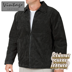 Mens Black Suede Jacket  Model# 23712-BLACK