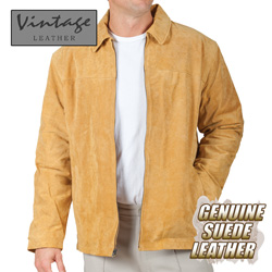 Mens Cognac Suede Jacket  Model# 23712-COGNAC