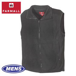 Mens Black Farmall IH Vest  Model# FMV-0113A