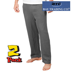 Mens 2 Pack Charcoal Grey Fleece Pants  Model# 1401-CHAR