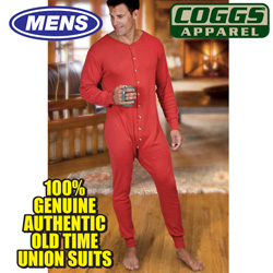 Mens Red Union Suit