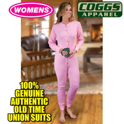 Womens Pink Union Suit