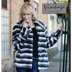 Womens Faux Raccoon Coat  Model# 20141