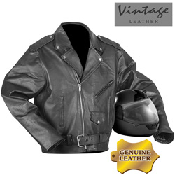 Vintage Leather Biker Jacket  Model# 27000