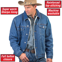 Sherpa Lined Denim Jacket  Model# 14029A
