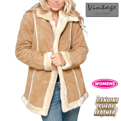 Womens Tan Suede Coat&nbsp;&nbsp;Model#&nbsp;21000-TAN