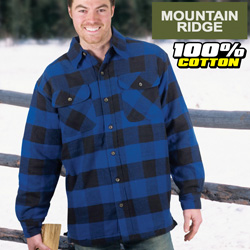 Mountain Ridge Royal Flannel Shirt&nbsp;&nbsp;Model#&nbsp;M6512-ROYAL