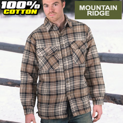 Mountain Ridge Black Flannel Shirt  Model# M6512-BLK