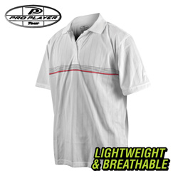 Pro Player Golf Shirt - White  Model# M2977-WHITE