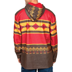 Red Southwest Pullover Sweatshirt
