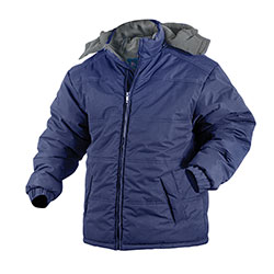 Navy Fleece Lined Hooded Jacket  Model# 14005