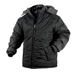 Black Fleece Lined Hooded Jacket  Model# 14005
