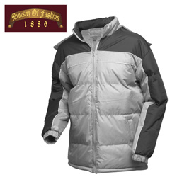 Mens Grey Bubble Jaket  Model# 912-B-GREY