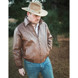 Brown Leather Jacket  Model# 393-BROWN