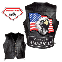 Proud American Leather Vest  Model# GFVPTBAL