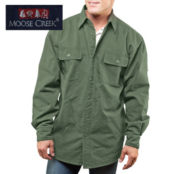 Green Moose Creek Shirt/Jacket  Model# 7201-FOREST