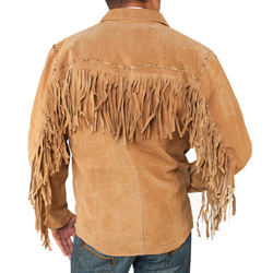 Fringe Zipper Jacket  Model# 49924