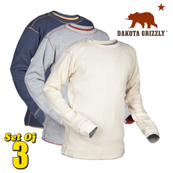 3 Pack Dakota Grizzly Thermal Shirts