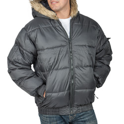 Bubble Jacket with Fur Hood&nbsp;&nbsp;Model#&nbsp;JK6000GM