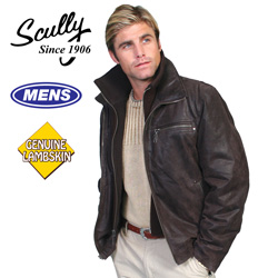 Brown Leather Jacket with Zip  Model# 400