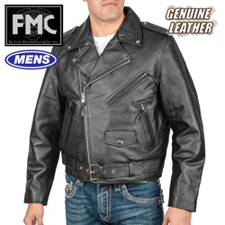 Classic Motorcycle Jacket  Model# FMM200BMP