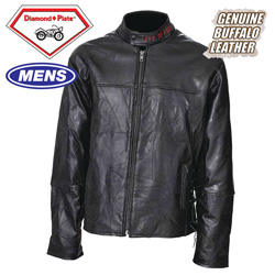 Buffalo Leather Motorcycle Jacket  Model# GFMCSB