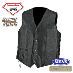 Pebble Grain Leather Vest&nbsp;&nbsp;Model#&nbsp;GFVPB