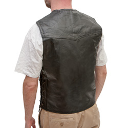 Pebble Grain Leather Vest  Model# GFVPB