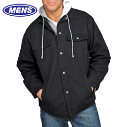 Utility Pro Jacket with Fleece Hood - Black  Model# UP6010-BLACK