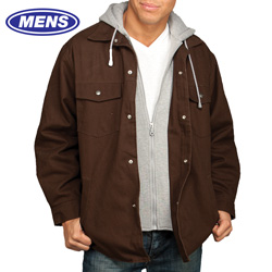 Utility Pro Jacket with Fleece Hood - Brown  Model# UP6010-DUCK BROWN