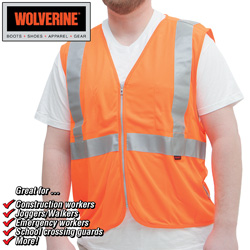 Wolverine Hi-Visibility Vest&nbsp;&nbsp;Model#&nbsp;WOLV-W102300-820